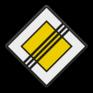 Verkeersbord B02 - Einde voorrangsweg