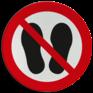 Veiligheidsbord P024 - Verboden op te staan