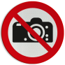 Veiligheidsbord P029 - Verboden te fotograferen