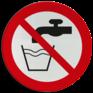 Veiligheidsbord P005 - Geen drinkwater