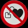 Veiligheidsbord P007 - Geen toegang voor personen met pacemaker