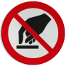 Veiligheidsbord P010 - Aanraken verboden