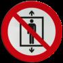 Veiligheidsbord P027 - Lift voor personen verboden