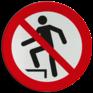 Veiligheidsbord P019 - Verboden op te stappen