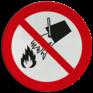 Veiligheidsbord P011 - Blussen met water verboden
