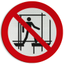 Veiligheidsbord P025 - Gebruik geen onafgewerkte steiger