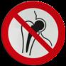 Veiligheidsbord P014 - Verboden toegang voor personen met metalen implantaten