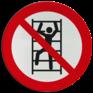 Veiligheidsbord P009 - Verboden te klimmen