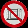Veiligheidsbord P023 - Verboden goederen neer te zetten