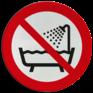 Veiligheidsbord P026 - Verboden om dit product onder douche of in bad te gebruiken
