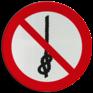 Veiligheidsbord P030 - Verboden om knopen te maken