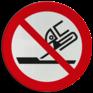 Veiligheidsbord P032 - Niet gebruiken voor vlakslijpen