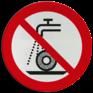 Veiligheidsbord P033 - Verboden nat te slijpen