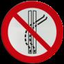 Veiligheidsbord P037 - Het sleepspoor niet verlaten