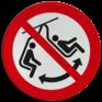 Veiligheidsbord P038 - Niet schommelen met stoeltje