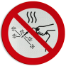Veiligheidsbord P039 - Warmte afstotende werkzaamheden verboden