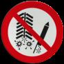 Veiligheidsbord P040 - Ontsteken van vuurwerk verboden
