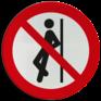 Veiligheidsbord P041 - Tegenaan leunen verboden