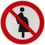 Veiligheidsbord P042 - Verboden voor zwangere vrouwen