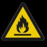 Veiligheidsbord W021 - Gevaar voor ontvlambare stoffen of hoge temperatuur