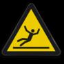 Veiligheidsbord W011 - Gevaar voor glad oppervlak