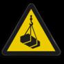 Veiligheidsbord W015 - Gevaar voor hangende lasten