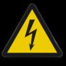 Veiligheidsbord W012 - Gevaar voor elektrische spanning