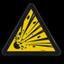 Veiligheidsbord W002 - Gevaar voor explosieve stoffen