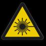 Veiligheidsbord W004 - Gevaar voor laserstraal