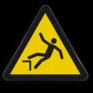 Veiligheidsbord W008 - Gevaar voor vallen door hoogteverschil
