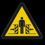 Veiligheidsbord W019 - Gevaar voor beknelling