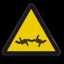 Veiligheidsbord W033 - Gevaar voor prikkeldraad