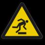 Veiligheidsbord W007 - Gevaar voor struikelen