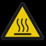 Veiligheidsbord W017 - Gevaar voor heet oppervlak