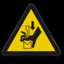 Veiligheidsbord W030 - Gevaar voor beklemming in persbank