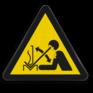 Veiligheidsbord W032 - Gevaar voor sneldraaiend werkstuk in persbank