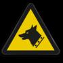 Veiligheidsbord W013 - Gevaar voor waakhond
