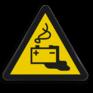 Veiligheidsbord W026 - Gevaar voor accu's