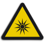 Veiligheidsbord W027 - Gevaar voor optische stralen