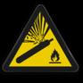 Veiligheidsbord W029 - Gevaar voor Gascilinder onder druk