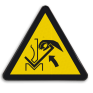 Veiligheidsbord W031 - Gevaar voor beklemming tussen materiaal en persbank