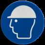 Veiligheidsbord M014 - Veiligheidshelm verplicht