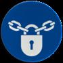 Veiligheidsbord M028 - Vergrendeling verplicht