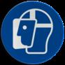 Veiligheidsbord M013 - Gelaatsbescherming verplicht