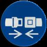 Veiligheidsbord M020 - Gordel dragen verplicht