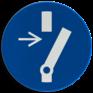 Veiligheidsbord M021 - Verplicht uitschakelen voor aanvang werkzaamheden