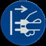 Veiligheidsbord M006 - Uit stopcontact halen alvorens uitvoeren van werkzaamheden