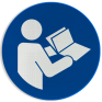 Veiligheidsbord M002 - Instructies lezen verplicht