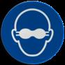 Veiligheidsbord M007 - Ondoorschijnende oogbescherming verplicht