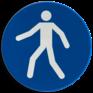 Veiligheidsbord M024 - Verplicht looppad of oversteekplaats voor voetgangers